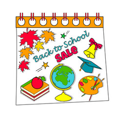Back to school calendar sale background with vector