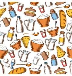 Baking and cooking ingredients seamless pattern vector