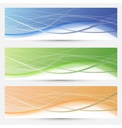 Banners collection - lines and swooshes vector