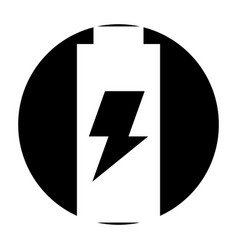 battery power isolated icon vector image