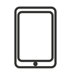 Black and white electronic smartphone vector