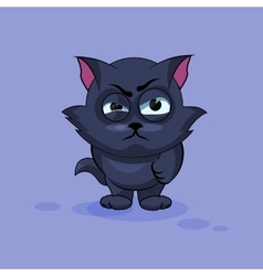Black cat angry vector