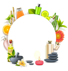 body care concept vector image