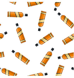 Bottle of bourbon whiskey vector