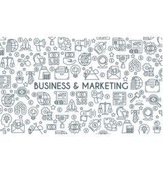 business and marketing thin linr banner vector image