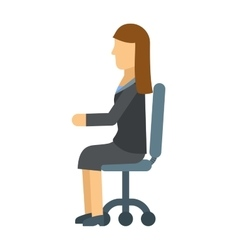 Business woman resting on office armchair vector