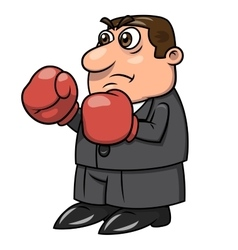 Businessman with boxing gloves 2 vector