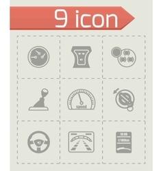 Car dashboard icon set vector image