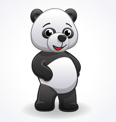 Cartoon panda standing vector