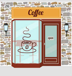 Coffee shop facade vector