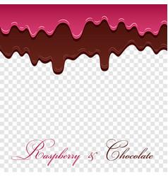 dark chocolate jam raspberry seamless pattern vector image