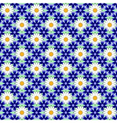 Design seamless colorful flower decorative pattern vector image