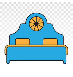 Double bed icon colours for apps or website vector