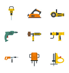 electric tool icon set flat style vector image