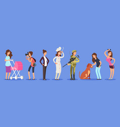 female free choice concept woman in vector image