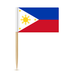 Flag philippines toothpick 10eps vector