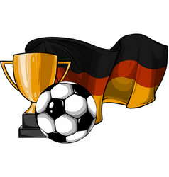 football ball with cup and german flag vector image