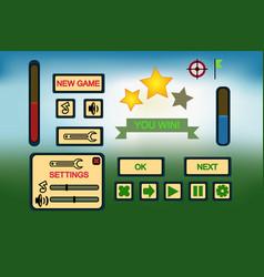 Game ui elements vector