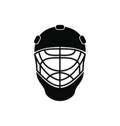 Goalkeeper hockey helmet icon vector