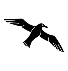 gull - seagull icon black vector image
