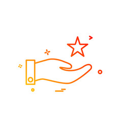 hand star icon design vector image