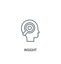 insight concept line icon simple element vector image