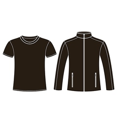Jacket and T-shirt template vector