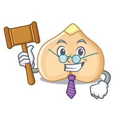 Judge chickpeas mascot cartoon style vector