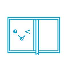 Kawaii book personal organiser cartoon vector