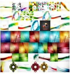 Large super set of abstract backgrounds vector image