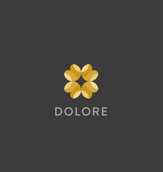 Luxury flower logotype colour universal vector