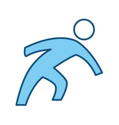 man pictogram symbol vector image