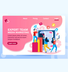 marketing landing page vector image