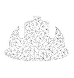 mesh construction helmet icon vector image