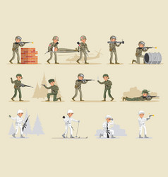 Military army collection vector
