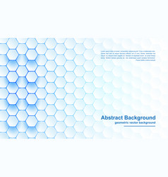 modern abstract blue hexagon background vector image