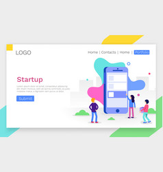 modern flat design concept of app development for vector image