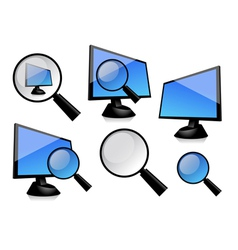 Monitor with magnifier vector