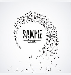 musical background with notes vector image