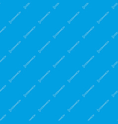 Musical pipe pattern seamless blue vector