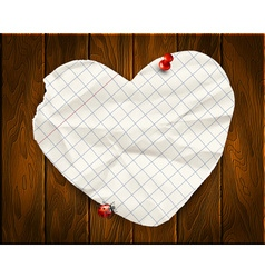 Note papers with a paper heart background vector image