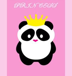 Panda bear princess vector