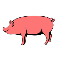 pig icon cartoon vector image