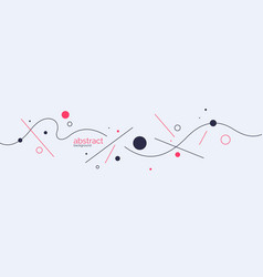 Poster with dynamic lines minimal vector