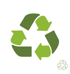 recycle icon sign isolated on white background vector image