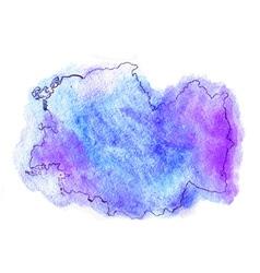 Romania watercolor map vector image