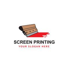 Silk screen printing icon vector