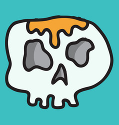 Skull in a vintage retro hand drawn woodcut vector