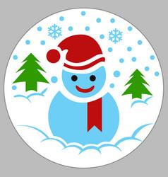 Snowman box vector