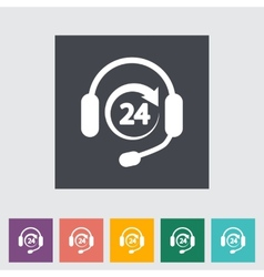 Support 24 hours vector image